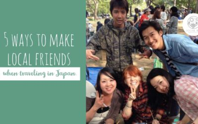 ways to make local friends in japan