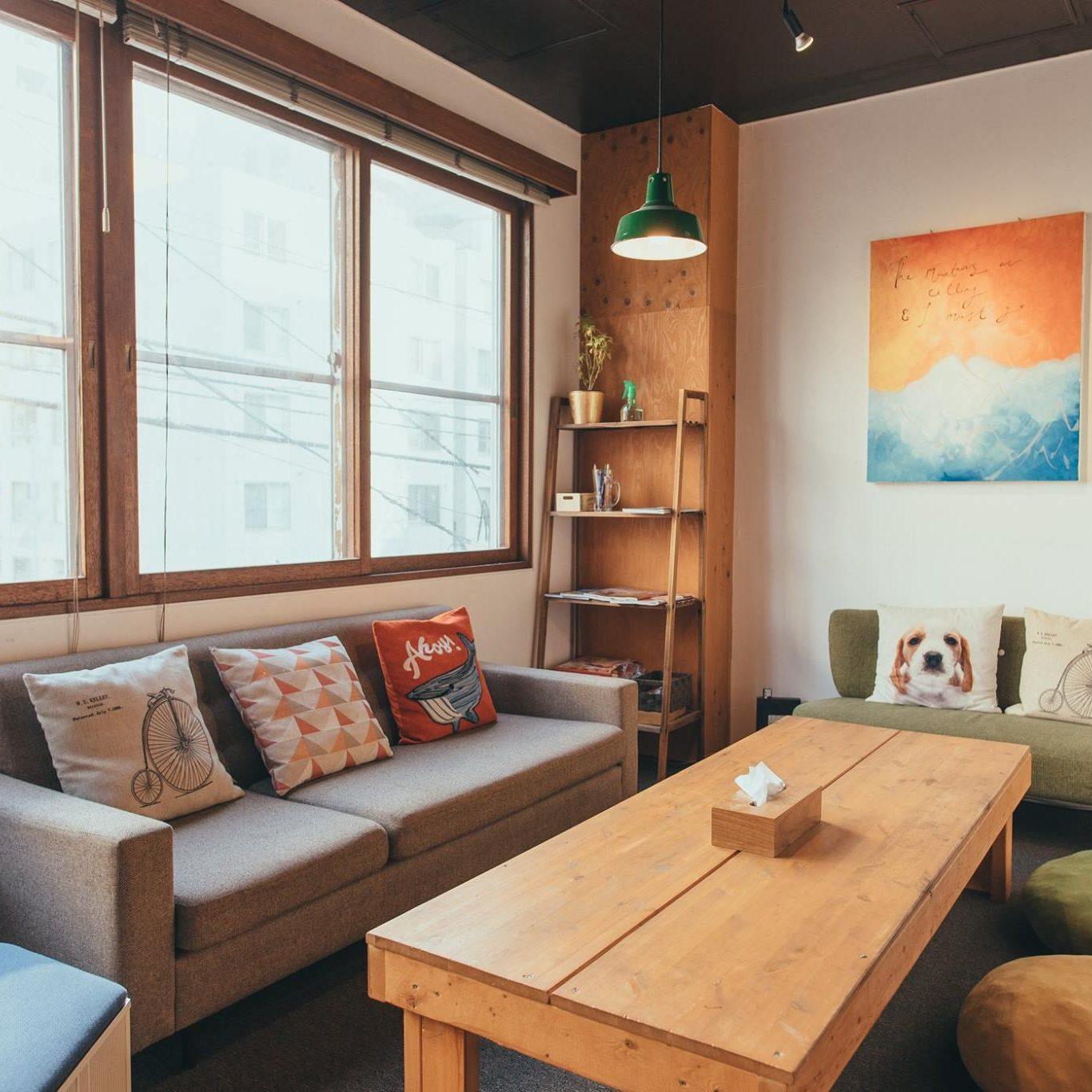 social hostel lounge
